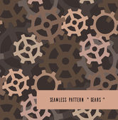 Seamless pattern with gears — Stock Vector