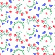 Seamless pattern with flowers — Stock Vector #74122147