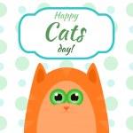 Postcard with cartoon cat — Stock Vector #78687380