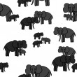 Family of elephants. — Stockvector  #66758179