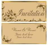 Vintage invitation card. — Stock Vector