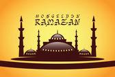 Vektörel Camii Hoşgeldin Ramazan — Stok Vektör