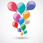 Renkli Balonlar ve Arkaplan — Stock Vector #74331683