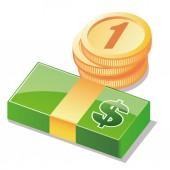Peníze — Stock vektor