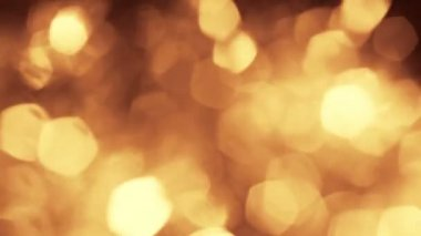 Shining light gold fire abstract bokeh background bokeh holiday ornaments bright spot defocused circle brilliant — Stock Video