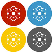 White Atom icon — Stockvector