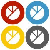 White Pie Graph icon — Stock Vector