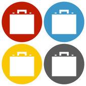 White Briefcase icon — Stock Vector