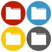 White Folder icon — Stock Vector