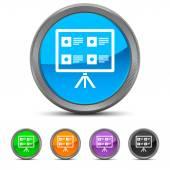 Round Presentation icon — Stock Vector
