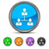 Round Leadership icon — Stock Vector