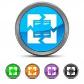 Round Infographic icon — Stock Vector