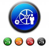 White Flywheel icon — Stock Vector