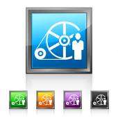 Square Flywheel icon — Stock Vector