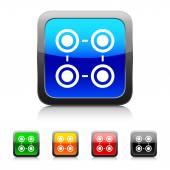 White Infographic icon — Stock Vector
