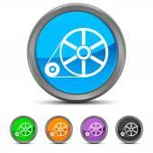Round Flywheel icon — Stock Vector
