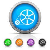 Glossy Flywheel icon — Stock Vector