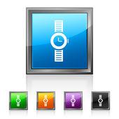Square Smartwatch icon — Stock Vector