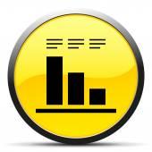Black Bar Graph icon — Stock Vector