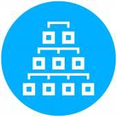 Hierarkin ikonen på en rund knapp. — Stockvektor