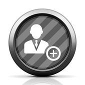 White Businessman icon — Vector de stock