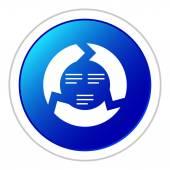 White Chevron Chart icon — Stock Vector