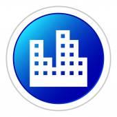 White Apartment icon — Stockvektor