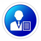 White Businessman icon — Stock Vector