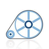 Color Flywheel icon — Stock Vector