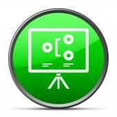 White Projector Screen icon — Stock Vector