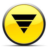 Black Pyramid icon — Stock Vector