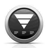 White Pyramid icon — Stock Vector