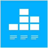 White Graph icon — Stock Vector