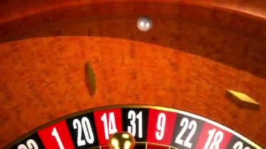 Roulette in motion 0009P — Vídeo stock