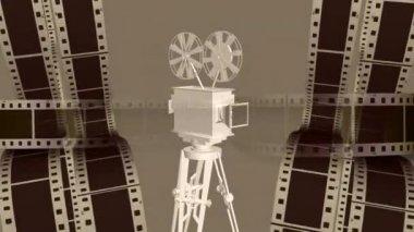 Movie Camera 0006H — Stock Video