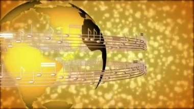 Music Notes 0094H — Stock Video