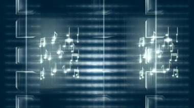Music Notes 0101H — Stock Video