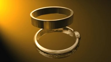 Wedding Ring 0004H — Vídeo stock