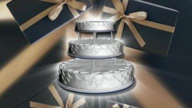 Wedding Cake 0011H — Stock Video