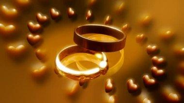 Wedding Ring 0032H — Stock Video