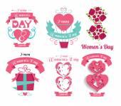 Set  Valentine's Day, design elements — Stock Vector