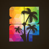 California surfing design — 图库矢量图片