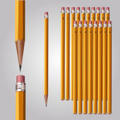 Set of pencils of different softness — Stock Vector