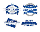 Design elements Day of the Finnish Republic — Stock Vector