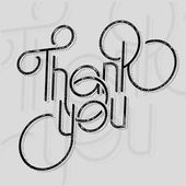 Lettering header thank you — Stock Vector