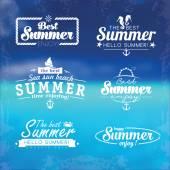 Abstract beach summer logo design template — Stock Vector