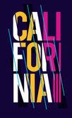 Färgglada mode print med Kalifornien — Stockvektor