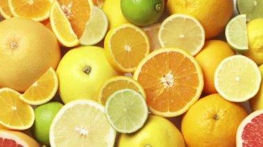 Halved citrus fruit — Stock Video