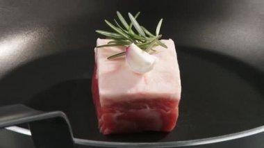 Loin of Iberian pork — Stock Video
