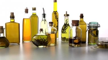 Various different oils — Vídeo de Stock